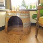 Locally made from recycled wine barrels these beds can be used indoors and out! Very well constructed and water proof, of course!